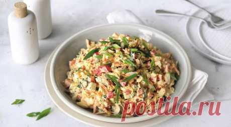 Яичный салат, пошаговый рецепт с фото
