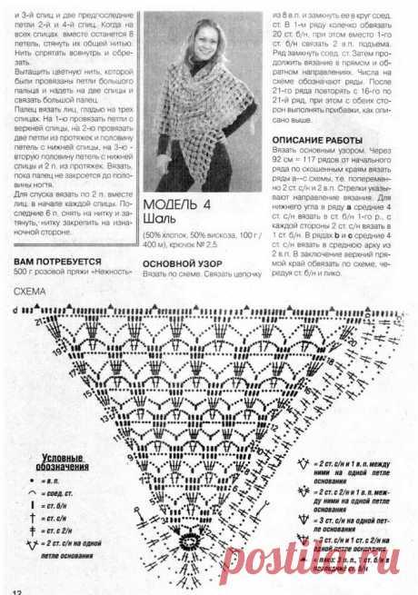 5 треугольных платков крючком: интересные модели со схемами | Рукоделие и дети — ДЕТВОРЯНДИЯ | Яндекс Дзен