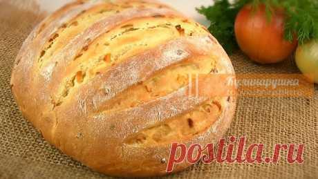 Домашний луковый хлеб.