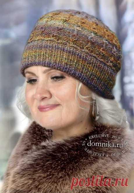 Вязание зимней шапки спицами для женщины 60 лет - описание и схемы вязания бесплатно