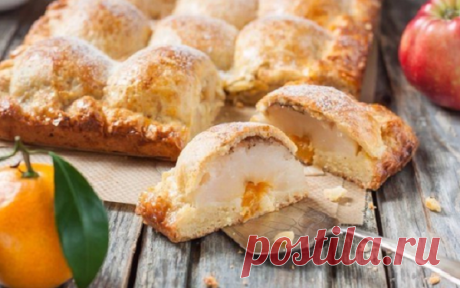 Блюдо выходного дня - творожный пирог с дольками яблок | Вкусные рецепты | Яндекс Дзен
