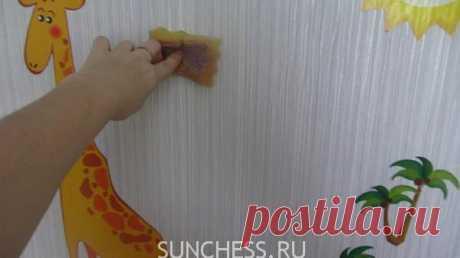 Как очистить обои от восковых мелков и карандашей