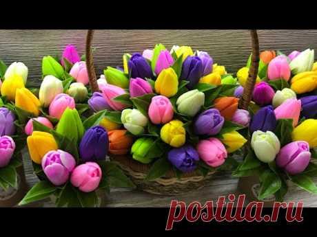 Мыловарение❤️ Мастер-класс ❤️ «Корзина тюльпанов»