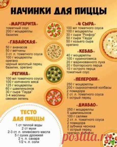 Нaчинки на любoй вкуc! А кaкую пиццу готoвите вы?
