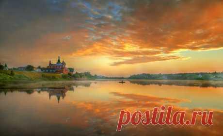 Рассвет в Старой Ладоге. Автор фото – Эдуард Гордеев: