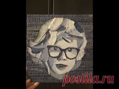 Джинсовый портрет своими руками! Сделать может каждый! Мастер-класс Марины Сунцовой.