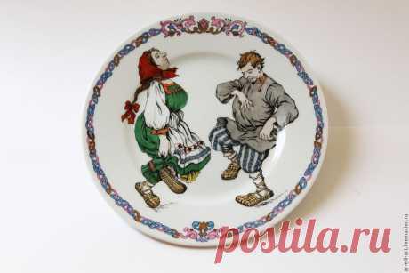 """Купить Фарфоровая тарелка с частушкой """"Па - зефир"""" - комбинированный, фарфоровая тарелка, декоративная посуда"""