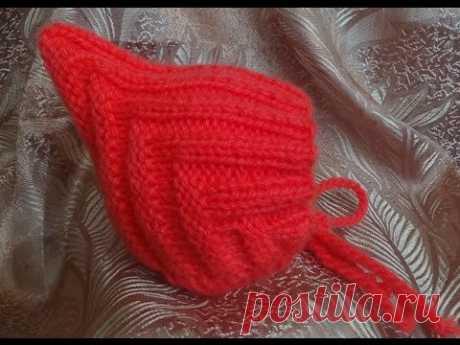 Детская шапочка спицами ЭЛЬФ. Baby hat knitting ELF - YouTube