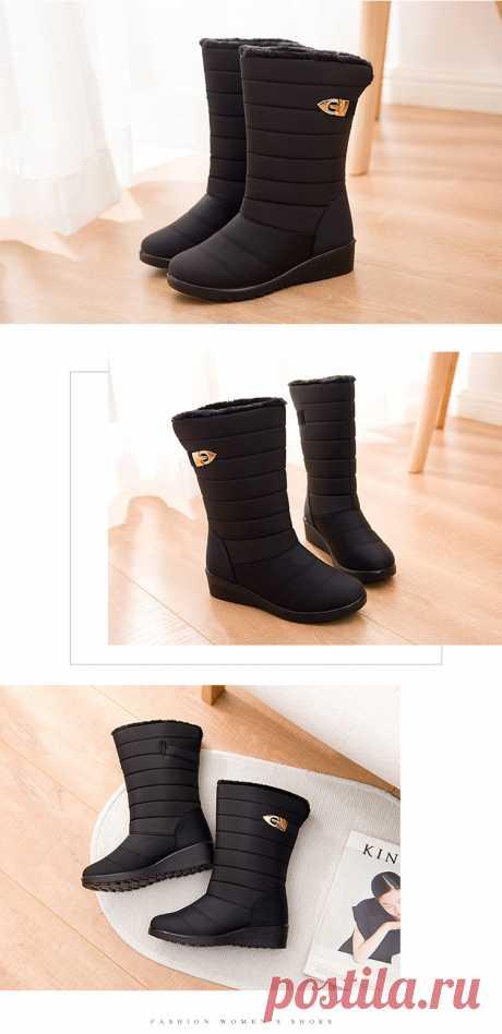 女高帮棉鞋_保暖女高帮棉鞋防水暖雪地靴轻便防滑女靴子 - 阿里巴巴