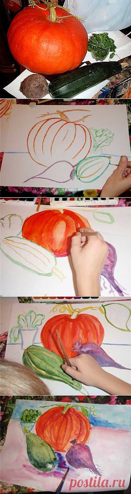 """Изображаем с детьми """"Осенний натюрморт"""" - Ярмарка Мастеров - ручная работа, handmade"""