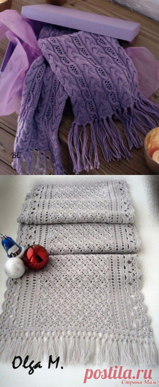 Ажурные шарфы для стильных весенних образов — Сделай сам, идеи для творчества - DIY Ideas