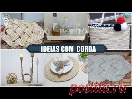6 IDEIAS COM CORDA  #CASADEPRAIA - YouTube