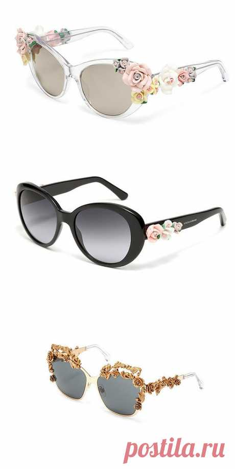 Розовые розы / Декор очков / Модный сайт о стильной переделке одежды и интерьера