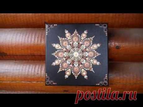 How to paint dot mandalas with Kristin Uhrig #51- Chai Latte