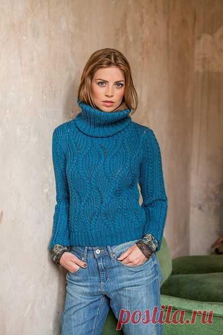Интересный узор для пуловера.