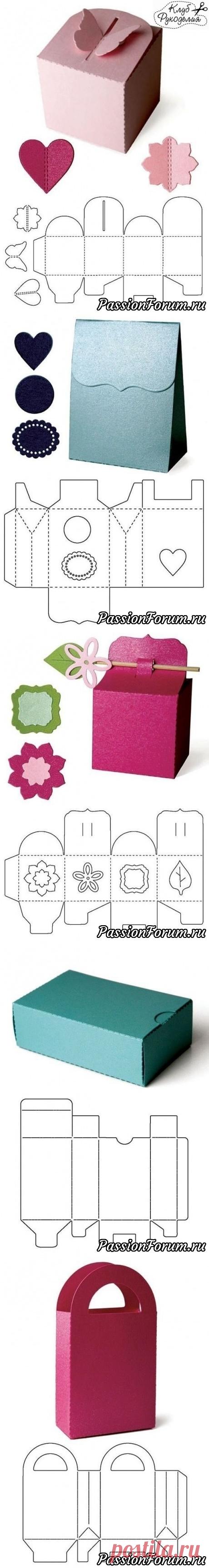 Los modelos para la creación de las cajitas originales para regalar