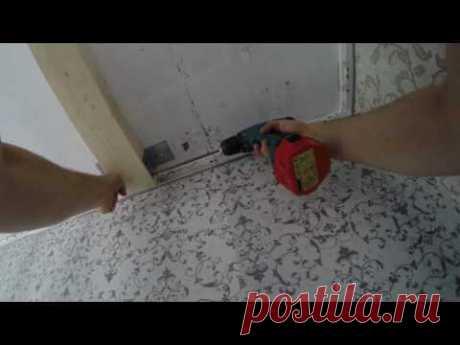 1. Установка добора под шкаф купе / натяжные потолки и встроенный шкаф GOPR1598