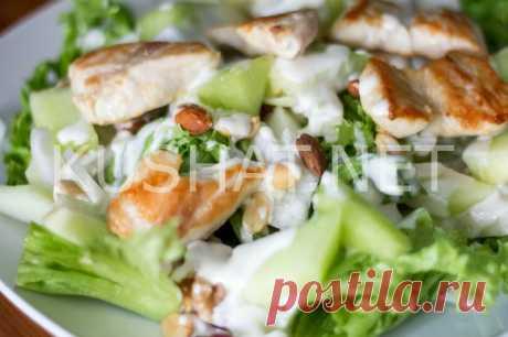 Салат «Цезарь» с курицей и йогуртом. Рецепт с фото • Кушать нет