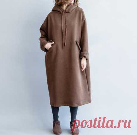 Women's brown Dresses, Woman Long Sleeve dress, Loose hooded dress 【Fabric】 Cotton 【Color】 brown 【Size】 Shoulder width 60cm / 23.4 Bust 136cm / 53 Sleeve length 48cm / 19 Length 103cm/ 40  Have any questions please contact me and I will be happy to help you.