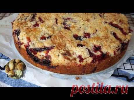 Сливовая бомба! Немецкий пирог со сливами /Pflaumkuchen,очень  вкусно!