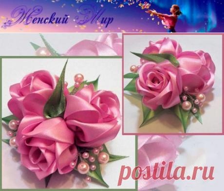 Как сделать розу из шелковой ленты (мастер-класс) » Женский Мир