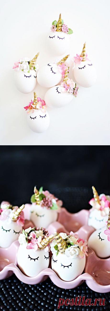 Пасхальные яйца - единороги