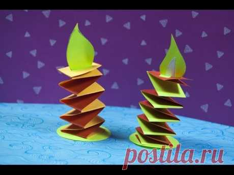 \ud83c\udf81 How to make a paper Christmas decoration | DIY Paper Candle