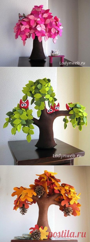 Деревья из фетра: шаблон, описание | Ladynweb.ru