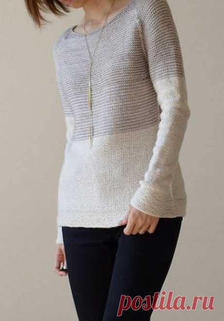 Вязаный женский пуловер Harmony - Вяжи.ру