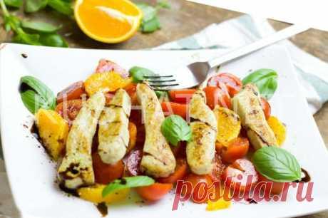 Салат с курицей, апельсинами и помидорами. Рецепт с фото • Кушать нет