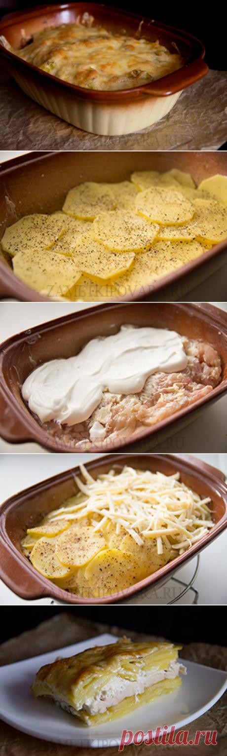 Картофельная запеканка с куриным филе | Простые кулинарные рецепты с фотографиями