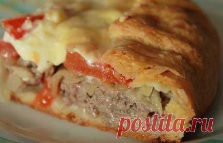 Как приготовить открытый мясной пирог. - рецепт, ингредиенты и фотографии