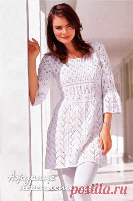 60 модных идеи платьев. Красивые вязаные платья спицами и крючком. Часть 2