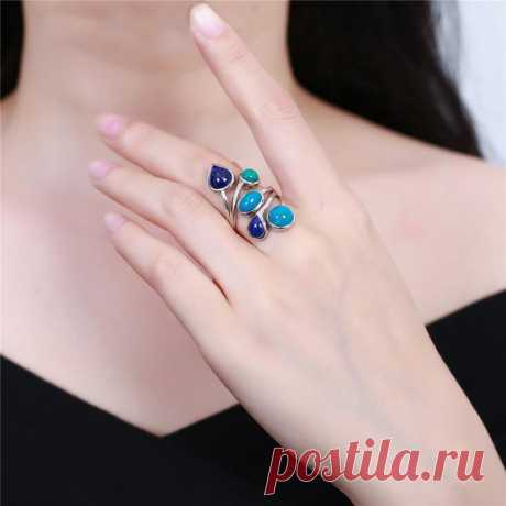 Vintage Phoenix Stone Ring / Lapis Ring / 925 Silver Inlay Ring / Inlay Ring / Ladies Ring / Black Friday Gift / New Year Gift Product Details:  Material: 925 silver, phoenix stone, lapis lazuli  color: blue  Shape: heart  Size: length 3.3cm, width 1.8cm  Weight: 5.8 grams  Translucent: opaque  Symbol: Good luck to you