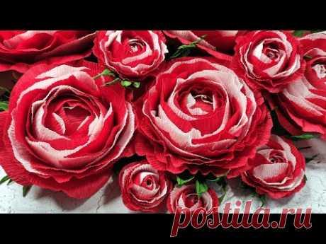 Я в ВОСТОРГЕ!!! Лайфхак работает и с розами из гофрированной бумаги 🌼 diy easy crepe paper roses