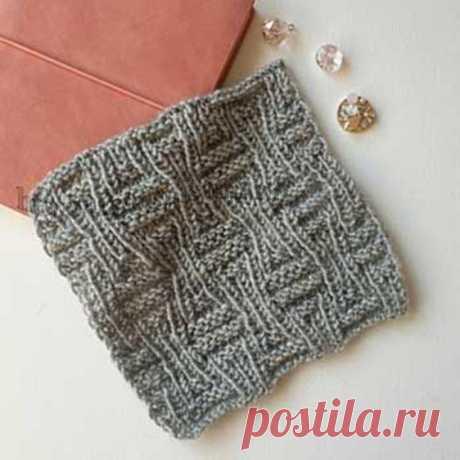 Простой рельефный узор спицами для пуловера, джемпера, кардигана (Вязание спицами)