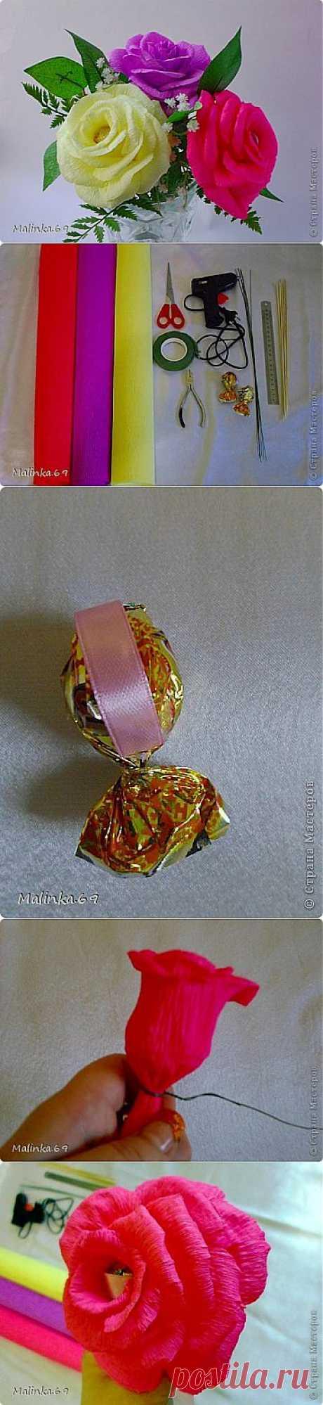 МК.Воздушные розы из конфет.(С изменениями) | Конфетный рай