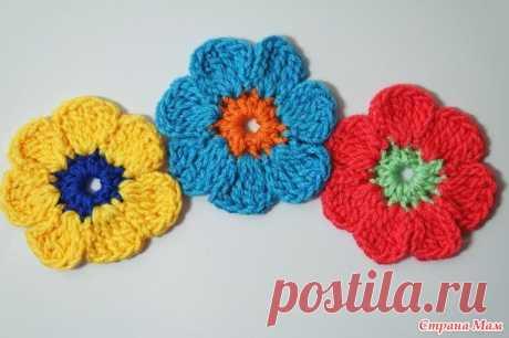 Цветок крючком для начинающих - Вязание - Страна Мам
