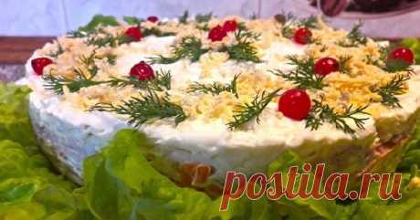 Классическая «Мимоза» на новый лад: от этого ингредиента салат еще вкуснее! Такой нежный и красочный.