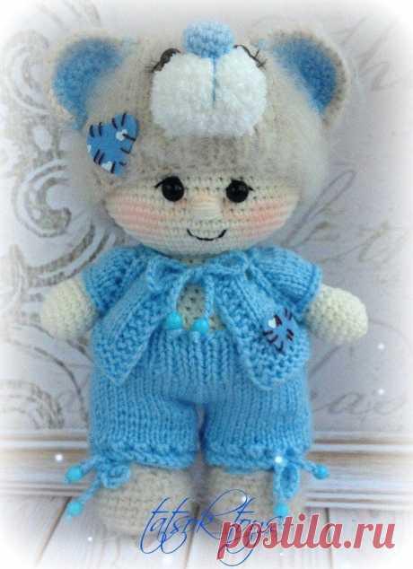 Пупс в костюме мишки Тедди | Схемы игрушек амигуруми