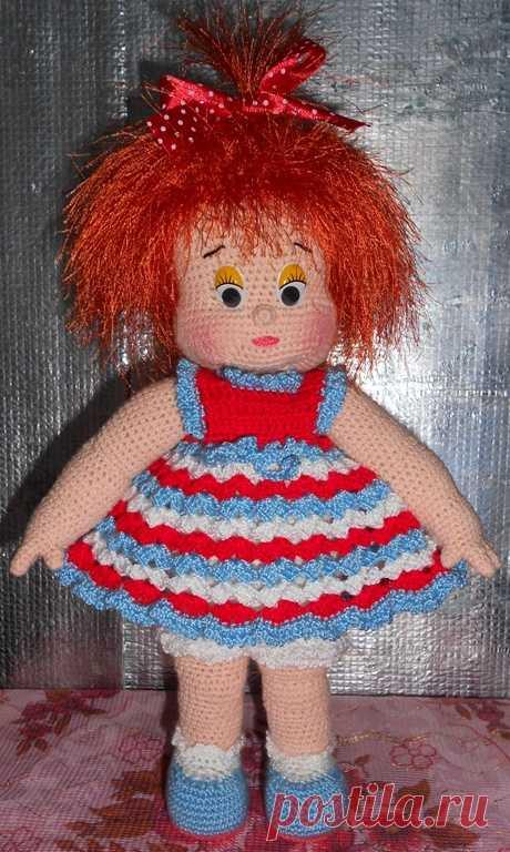 связать большую куклу крючком мастер класс Velzevulru вязание