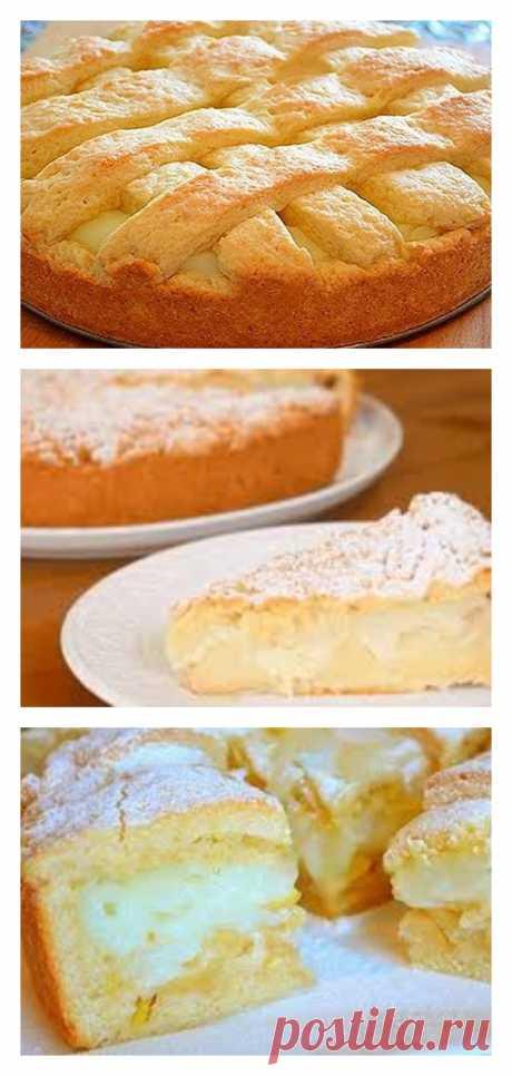 Яблочный пирог с заварным кремом - Сайт для Вас Дорогие пользователи