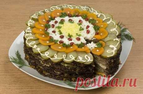Любимые салаты к праздничному столу