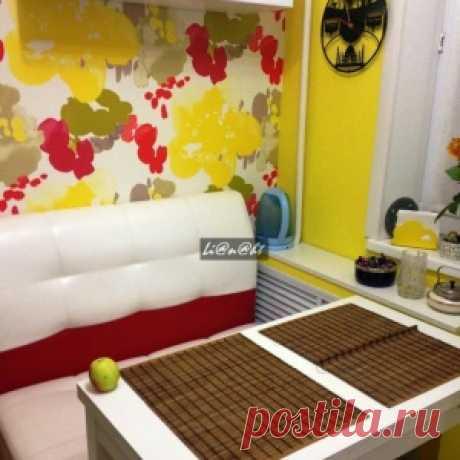 Хрущевская кухня-малютка площадью всего-то 5,2 кв.метров — яркая и уютная! - МирТесен