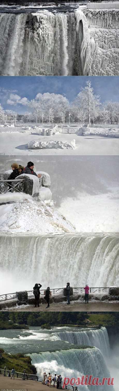 10 завораживающих фото замерзшего Ниагарского водопада : НОВОСТИ В ФОТОГРАФИЯХ