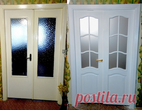 Если нет денег на новую межкомнатную дверь ее надо просто украсить простым и дешевым способом