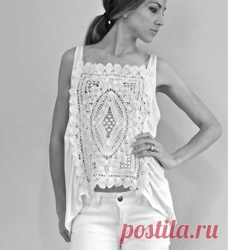Майка + салфетка (мастер-класс) / Кружево / Модный сайт о стильной переделке одежды и интерьера
