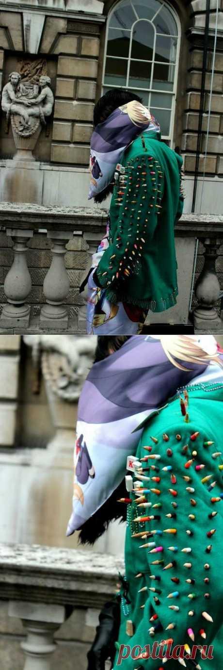 Шипы из карандашей / Street Style / Модный сайт о стильной переделке одежды и интерьера