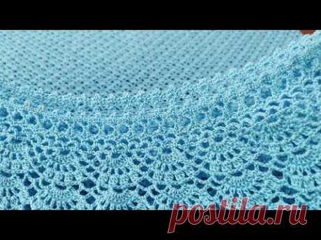 Красивая, универсальная обвязка края, КАЙМА крючком для: кофт, жакета, кардигана, топа, платья