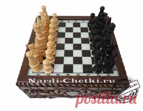 """Купить шахматы ручной работы """"Гербовые"""""""